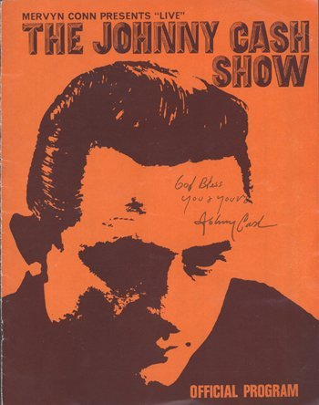 10: JOHNNY CASH signed programme cover