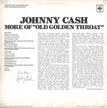 11: JOHNNY CASH signed album