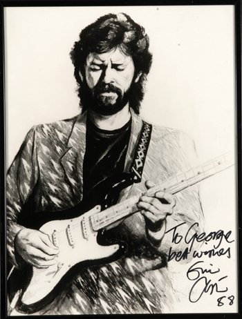 14: ERIC CLAPTON signed RONNIE WOOD print