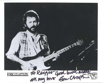 16: ERIC CLAPTON/KRAYS signed photograph