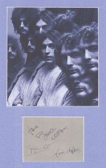 17: CREAM autographs