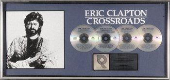 18: ERIC CLAPTON 'Crossroads' sales award and CD