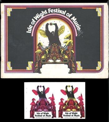 24: DYLAN Isle of Wight Festival 1969 programme etc