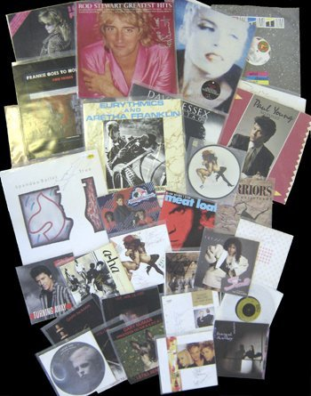 500: Large collection of signed albums& singles 1980's