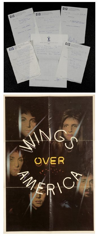 518: Wings 'Wings Over America' poster for album