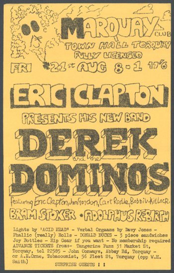 524: Derek & the Dominos flyer