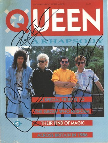 570: Queen - fully signed copy of the magazine Q