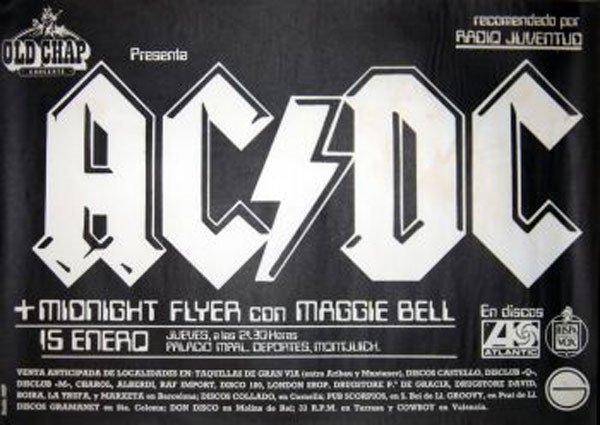 2 - AC/DC concert poster 1981