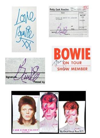 9 - David Bowie 'Aladdin Sane' tour ephemera