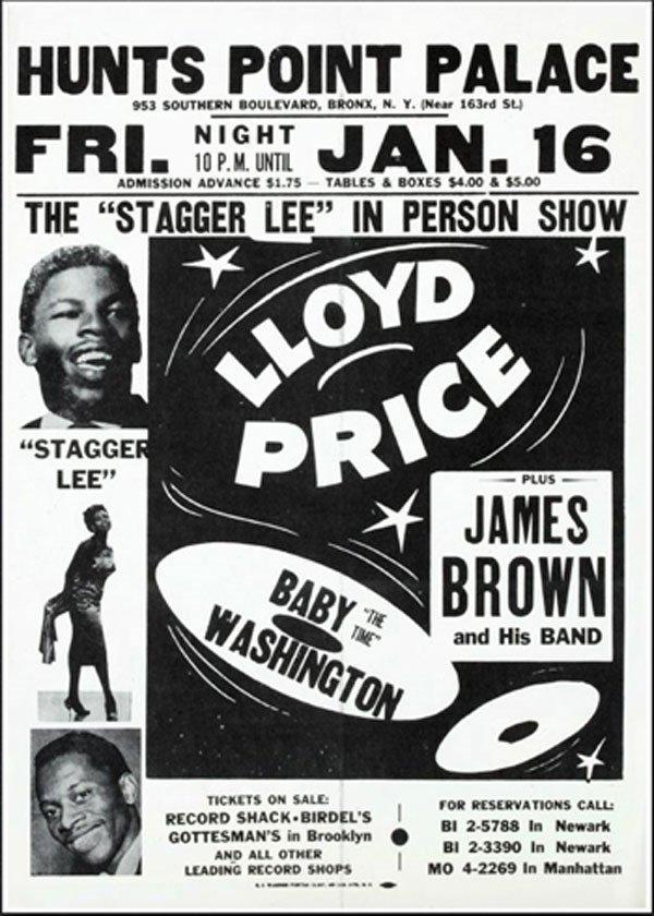 11 - Lloyd Price & James Brown handbill, 1959