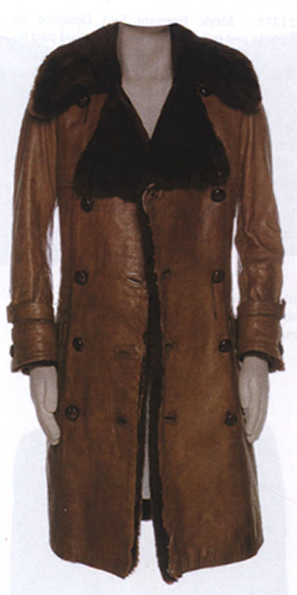 16 - Roger Daltrey owned & worn leather coat