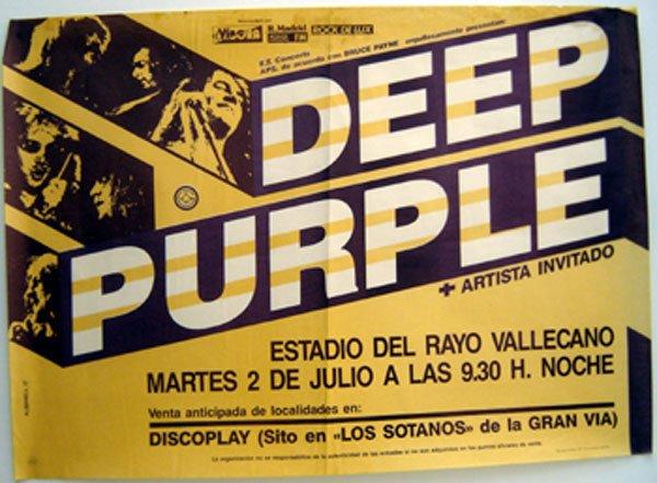 19 - Deep Purple concert poster 1985