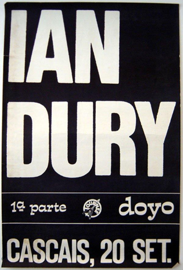 21 - Ian Dury unused concert ticket, 1979
