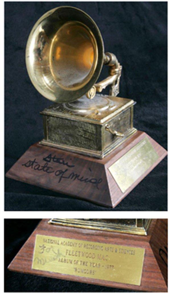 22 -Stevie Nicks inscribed Fleetwood Mac awar