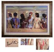 73  Pink Floyd signed album covers poster