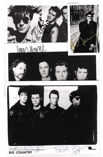 1002: 1002 - Autographs: Big Country, Bryan Ferry,