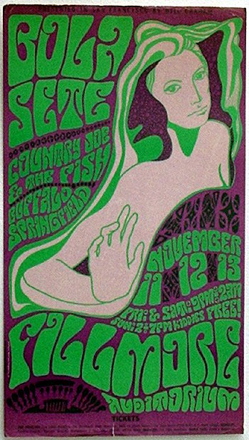 1007: 1007- BGP poster, artist: Wes Wilson,  Countr