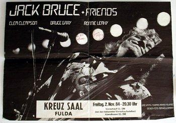 1011: 1011-Jack Bruce & Friends Kreux Saal poster