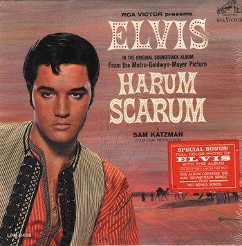 1025: 1025- Elvis Presely signed Harum Scarum album