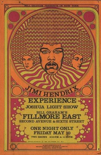 1104: 1104- BGP Hendrix Fillmore East poster