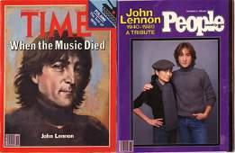 1176: 1176-John Lennon obituary issue magazines