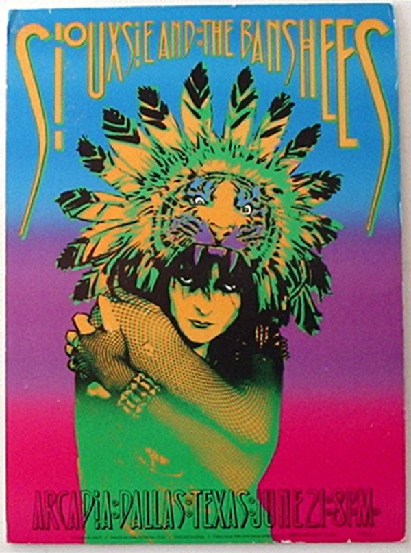 12: 12 - Siouxsie & The Banshees concert poster