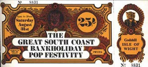13: 13 - Unused Isle of Wight ticket, 1968