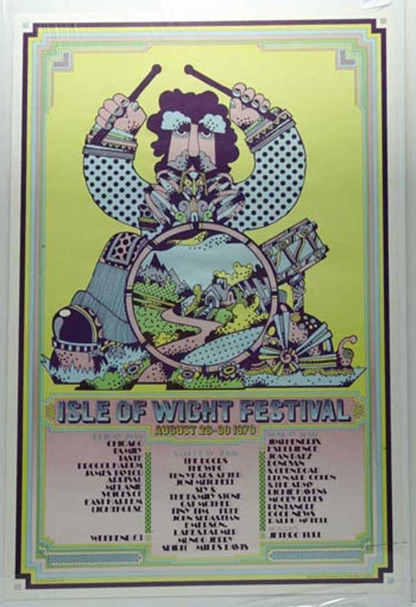 14: 14 - Isle of Wight Festival poster, 1970