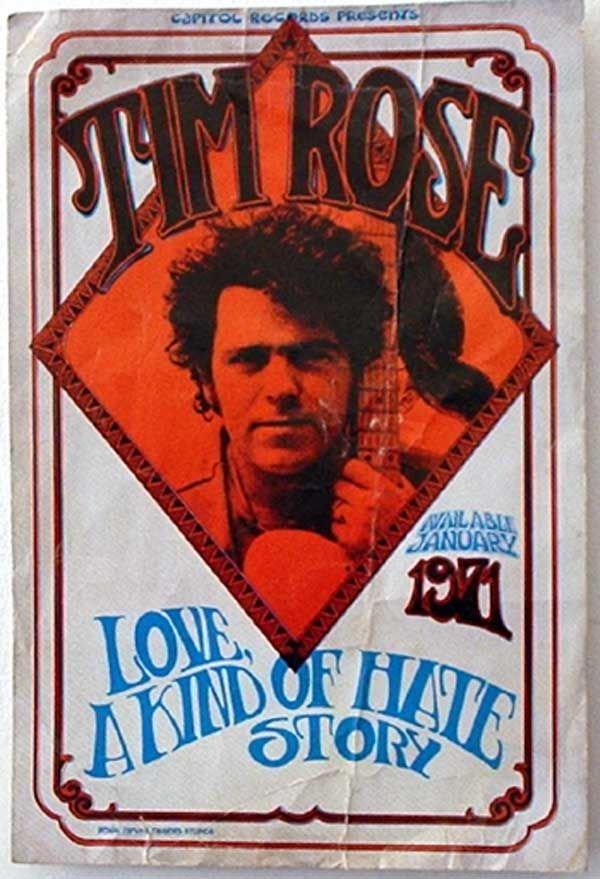 17: 17 - Tim Rose concert poster