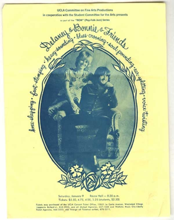 19: 19 - Four original handbills Delaney & Bonnie