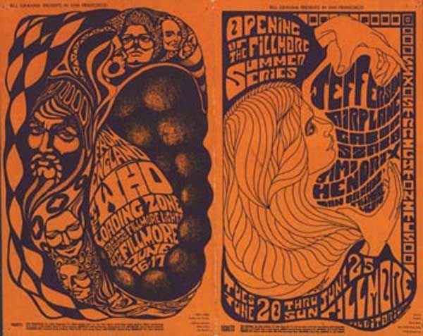20: 20 - The Who / Hendrix handbill and postcard