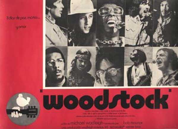22: 22 - Woodstock Mexican film lobby card, 1970