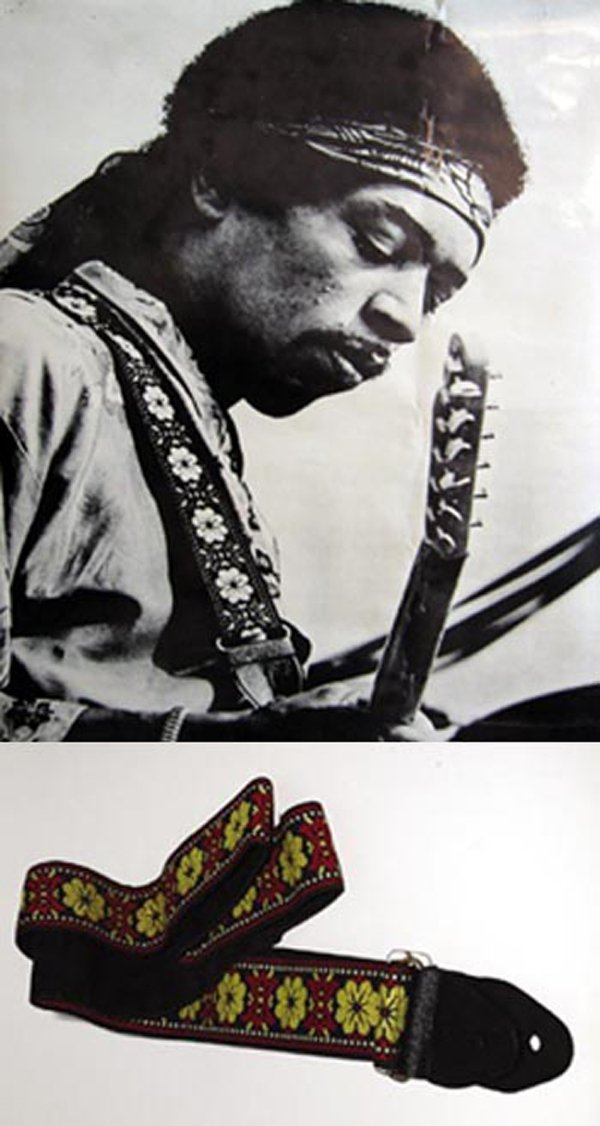 132: 132 - Hendrix owned Guitar strap with floral