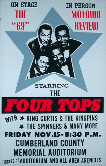 1†: Motown Review boxing style poster, 1969