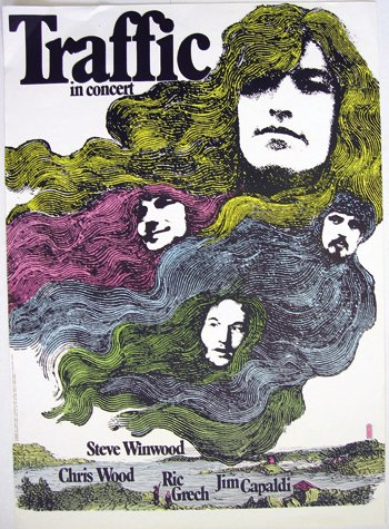 2: Traffic in Concert poster, 1971