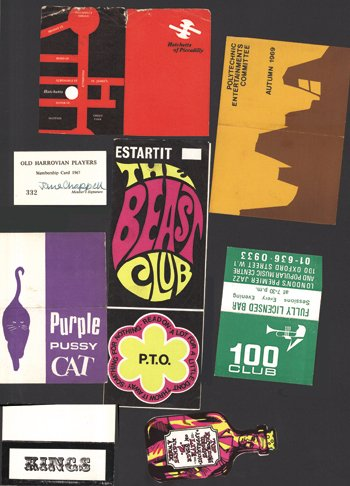 10: Sixties Club Membership cards