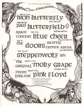 11*:  1968 Doors / Pink Floyd Seattle psychedelic ad