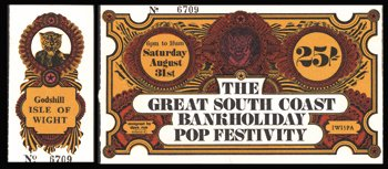 12: Isle of Wight concert ticket