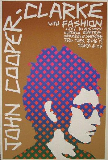 23: John Cooper clarke / Joy Division poster