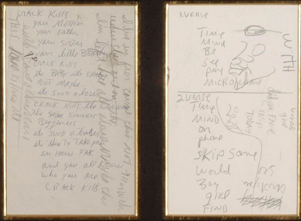 44†: Michael Jackson handwritten lyrics 'Crack Kills' - 2