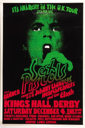 55: Sex Pistols Kings Hall Derby poster