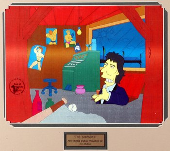 216: George Harrison Simpsons cel