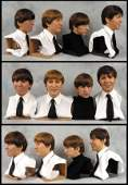273 The Beatles waxwork heads from Sgt Peppers cover