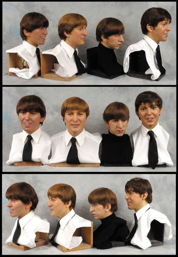 273†: The Beatles waxwork heads from Sgt Peppers' cover