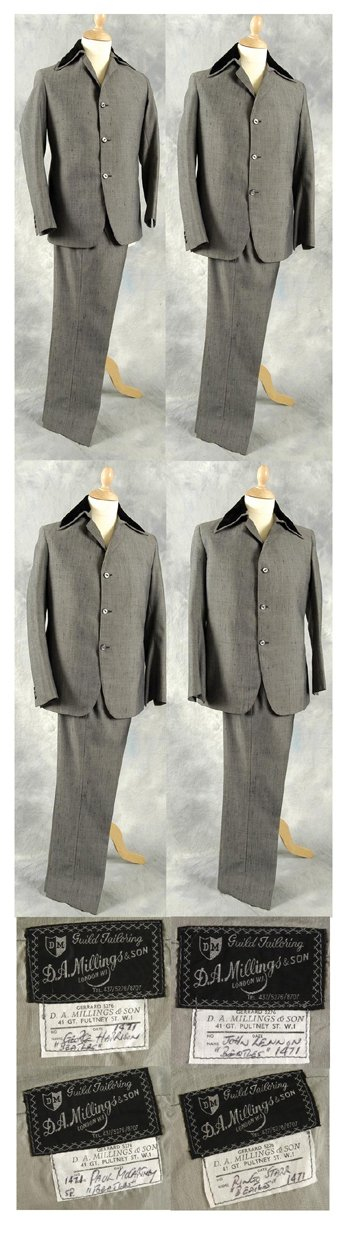 276†: Four Beatles worn suits