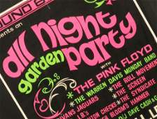 Pink Floyd: 'All Night Garden Party' concert poster