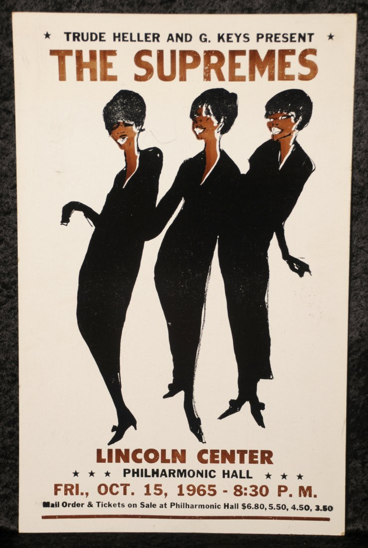 The Supremes: concert poster, Lincoln Centre, 1965