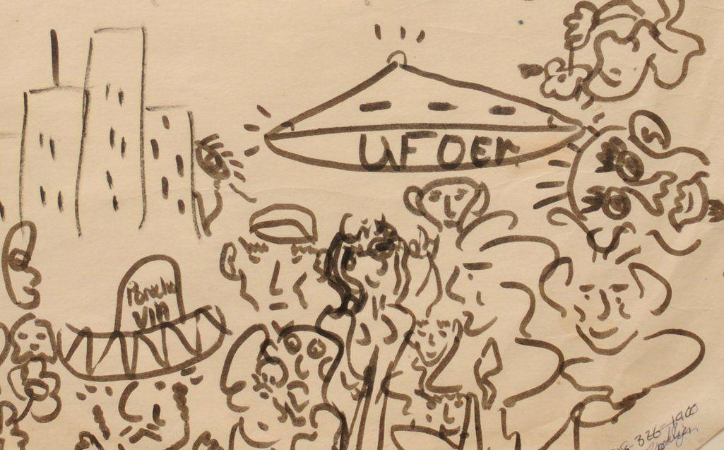 The Beatles / John Lennon: original doodles and