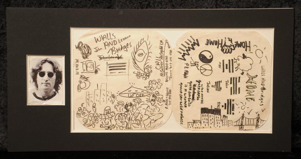 The Beatles / John Lennon: original doodles and - 2