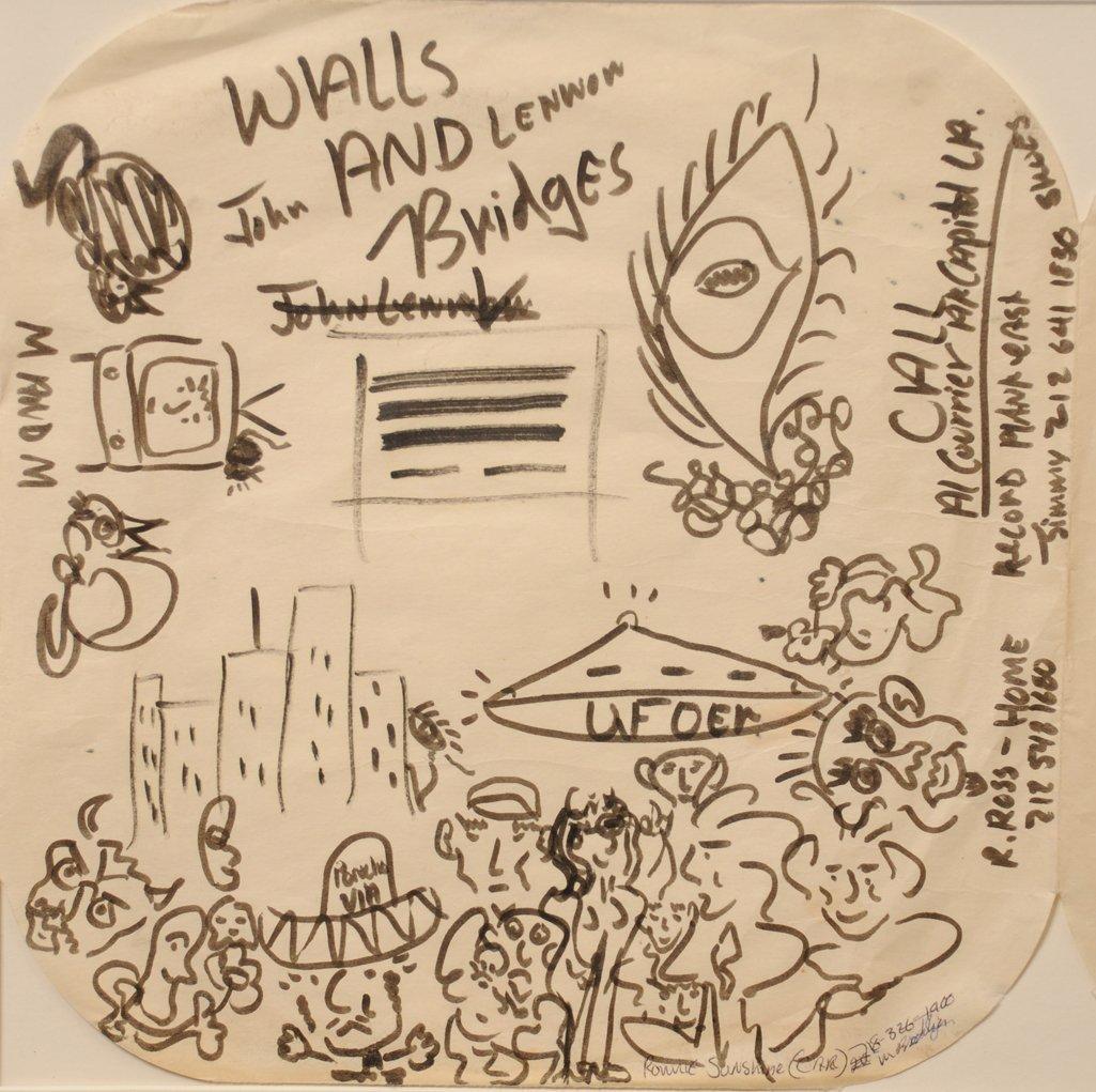 The Beatles / John Lennon: original doodles and - 3